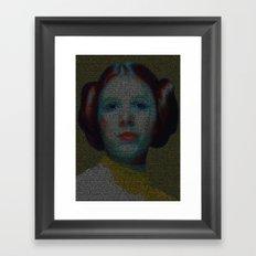 Alderaan Girl Framed Art Print