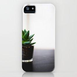 Minimalist Succulent Cactus Aloe Vera iPhone Case