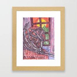 A Bloody Mess Framed Art Print