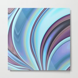 Abstract Fractal Colorways 02PrBl Metal Print