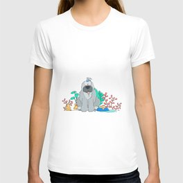 dog and ducks T-shirt