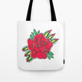 Tattoo Flower by Shane A. Tote Bag