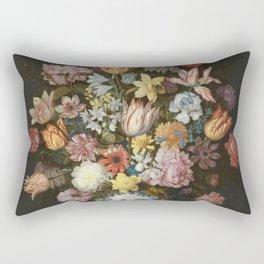 Ambrosius Bosschaert The Elder - A Still Life Of Flowers In A Wan-Li Vase Rectangular Pillow