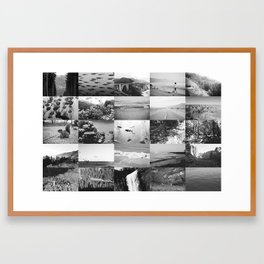 black and white world Framed Art Print