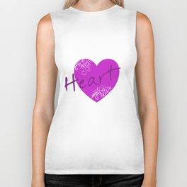 Purple Heart Flower Biker Tank