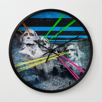 rushmore Wall Clocks featuring Mt Rushmore, Yo by Dan Howard