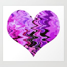 wind heart violet Art Print