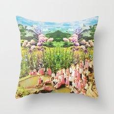 Pink of love  Throw Pillow