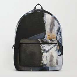 Horse Ghost  Wild White Horse From The Dark Backpack