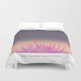 Cactus| 800 hundred hearts Duvet Cover