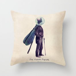 Inspector Dragonfly Throw Pillow