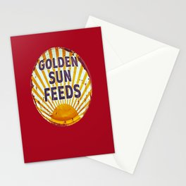 Golden Sun Feeds Stationery Cards