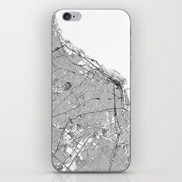 Buenos Aires White Map iPhone Skin