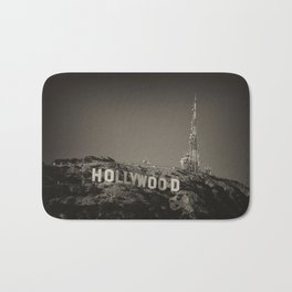 Vintage Hollywood sign Bath Mat