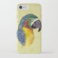 parrot iPhone & iPod Cases featuring Parrot by SilviaGancheva