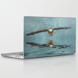 Bald Eagle on Misty Lake Laptop & iPad Skin