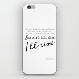 I'll rise #minimalism iPhone Skin