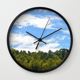 The Trees Above Wall Clock