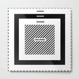 CSS BOX MODEL Metal Print
