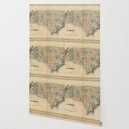 Vintage Map of North Carolina (1823) Wallpaper