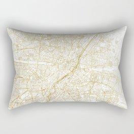 Munich Map Gold Rectangular Pillow