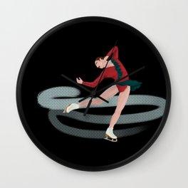 She Skates Wall Clock