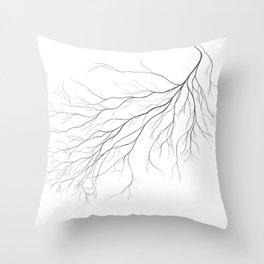 Mycelium (pencil drawing) Throw Pillow