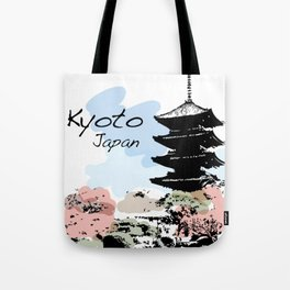 Kyoto Temple Japan Tote Bag