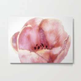 One Pink Tulip Metal Print