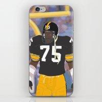 steelers iPhone & iPod Skins featuring Steelers - Joe Greene - 1978 (Vector Art) by Troy Arthur Graphics