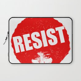 Angela Davis - Resist (red version) Laptop Sleeve