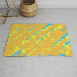 orange yellow and blue painting abstract background Rug