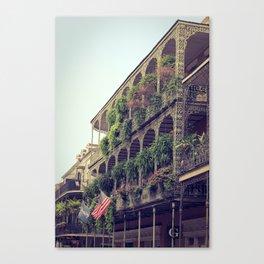 French Quarter Balconies - Royal Street Canvas Print