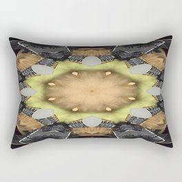 Paramilitary Tryst Mandala 4 Rectangular Pillow