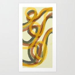 CURSIVE IN TOPAZ Art Print