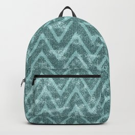 Soft Teal Green Zigzag Chevron Pattern Backpack
