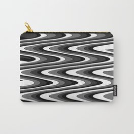 Monochromatic black white slur Carry-All Pouch