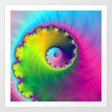 Color Wash Spiral Art Print