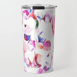 Graffiti Pink and blue Brush stroke pattern Travel Mug