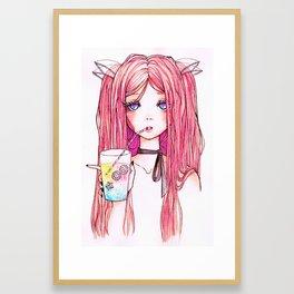 Unicorn Milk Framed Art Print