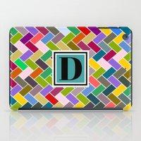 monogram iPad Cases featuring D Monogram by mailboxdisco