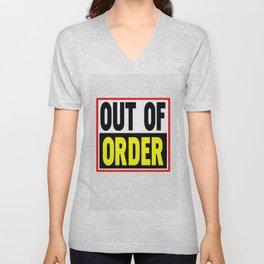 Out Of Order Unisex V-Neck