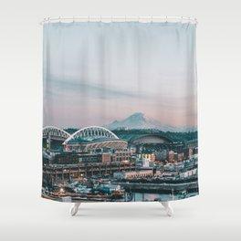 Seattle & Mount Rainier Duschvorhang
