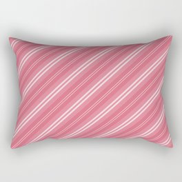 Soft Nantucket Red & White & White Diagonal Fade Stripes Rectangular Pillow