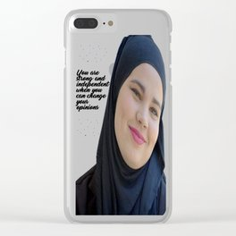 SKAM - Sana Bakkoush - You are strong and indipendent Clear iPhone Case