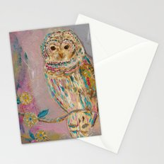 Jeweled Owl Stationery Cards