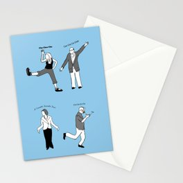 Chicken Dance The Night Alway  Stationery Cards