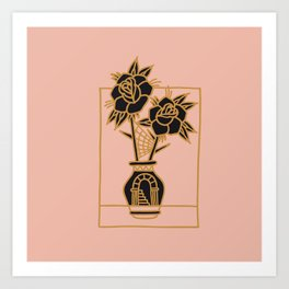 FLOWERS AND YOU Art Print