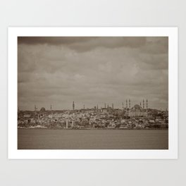 Mosque (Istanbul, TURKEY) from the Sea of Marmara Art Print