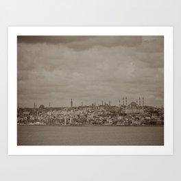 Mosque (Istanbul, TURKEY) from the Sea of Marmara Art Print